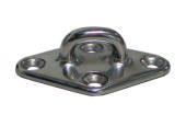 AISI 316 Pad Eye Diamond Base 90mm