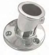 AISI 316 Flag Pole Socket Top Mounted 25mm