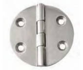 """AISI 316 Round Plate Deck Hinge (2-1/2"""" x 2-1/2')"""